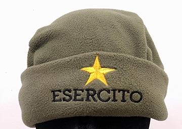 OPENLAND ZUCCOTTO PILE HAT WITH EMBROIDERY 220GR/MQ OD GREEN
